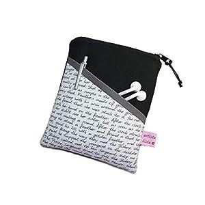 eReader Tasche eBook Reader Tablet Hülle Poesie grau, Maßanfertigung bis max. 10,9″ z.B. für Tolino Epos