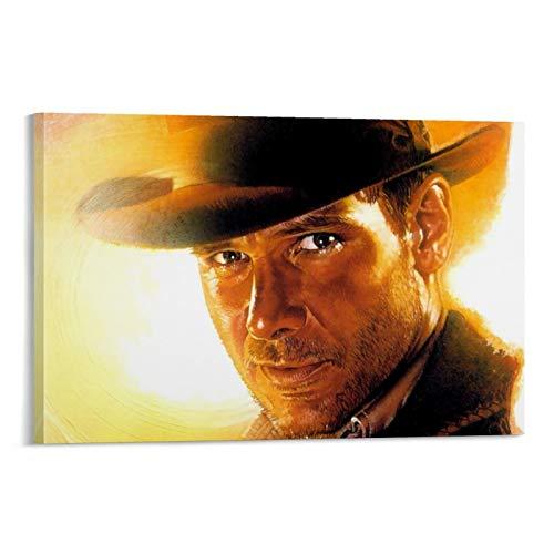 DRAGON VINES Póster de Indiana Jones y The American Classic Movie Art Lienzo decorativo para pared con impresión en alta definición para hogares, oficinas, garajes, tiendas, 60 x 90 cm