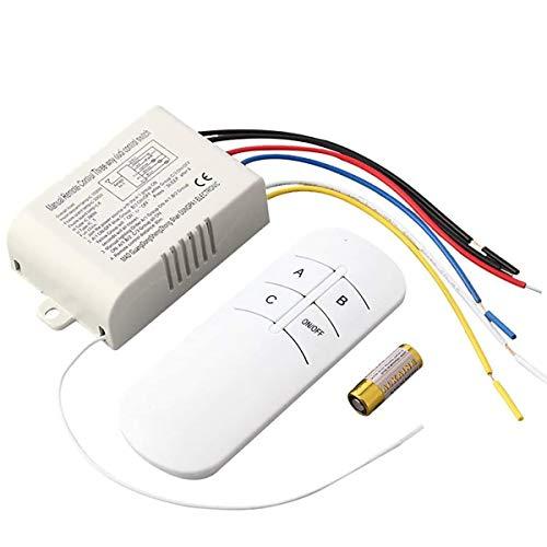 Mando a distancia inalámbrico para interruptor de pared, 1/2/3/4 vías, encendido/apagado, 220 V, receptor de luz de pared digital, emisor de mando a distancia con pilas