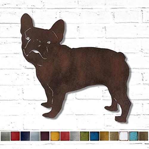 French Bulldog - Metal Wall Art home decor - Handmade - Choose 11', 17' or 23' - Choose your Patina Color, OR Choose from 19 different Dog Breeds! (see options) Canine Art