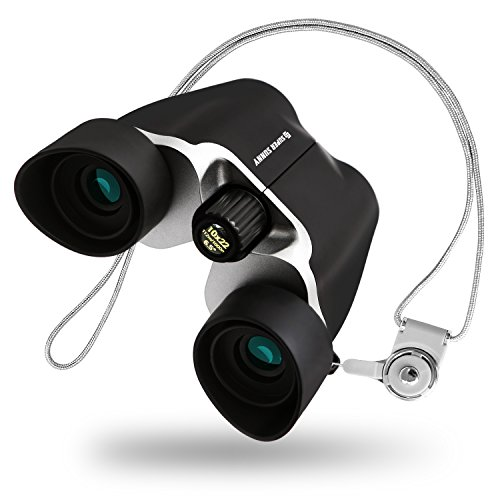 SuperSunny Binoculars for Concert, 10x Zoom, Anti-shake and improved, 10x22with Neck Strap, Ultra Lightweight, Compact