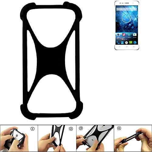 K-S-Trade® Handyhülle Für Siswoo C55 Longbow Schutz Hülle Silikon Bumper Cover Case Silikoncase TPU Softcase Schutzhülle Smartphone Stoßschutz, Schwarz (1x),