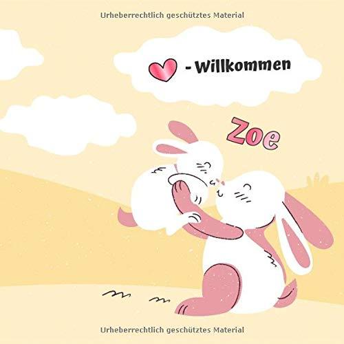 Herzlich Willkommen Zoe: Babygeschenke mit Namen Mädchen / Geburtsgeschenk Ideen / Namensgeschenk Baby / Babygeschenke personalisiert zur Geburt