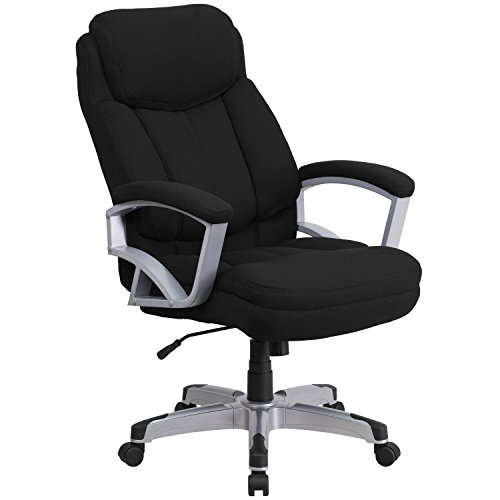 Flash Furniture HERCULES Series Big & Tall 500 lb. Rated Black Fabric Executive Swivel Ergonomic Office Chair with Arms