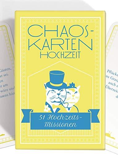 Chaoskarten Hochzeitsspiel – Das Original – 51 Aufgaben für eine unvergesslich lustige Hochzeit