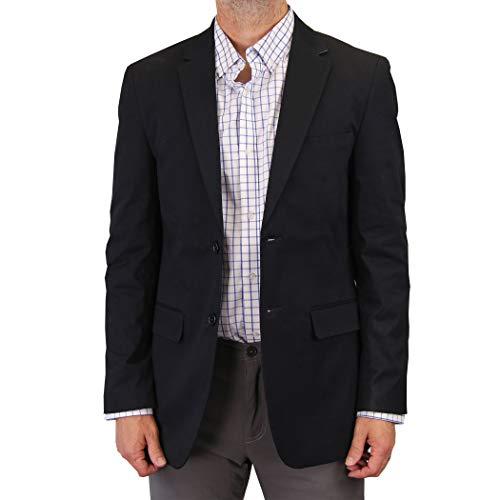 Mens Casual Blazer Sport Coat Jacket (Deep Navy, 42 Regular)