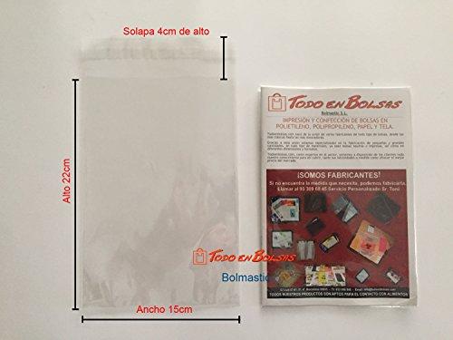 Bolmastic Bolsa de Polipropileno con Solapa Adhesiva de 15 x 22 cm (100 Unidades)
