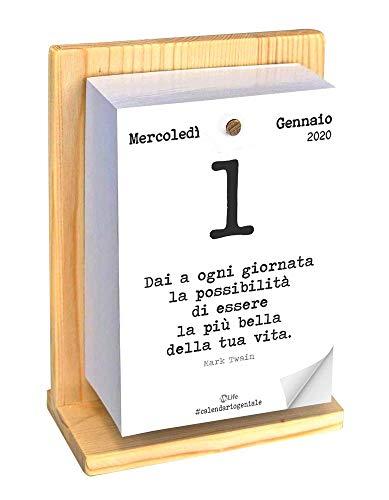 Calendario Geniale 2020 - Mesi da gennaio a dicembre 2020 con supporto in legno