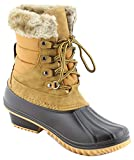 Nature Breeze Women Stitching Lace Up Side Zip Waterproof Insulated Boot