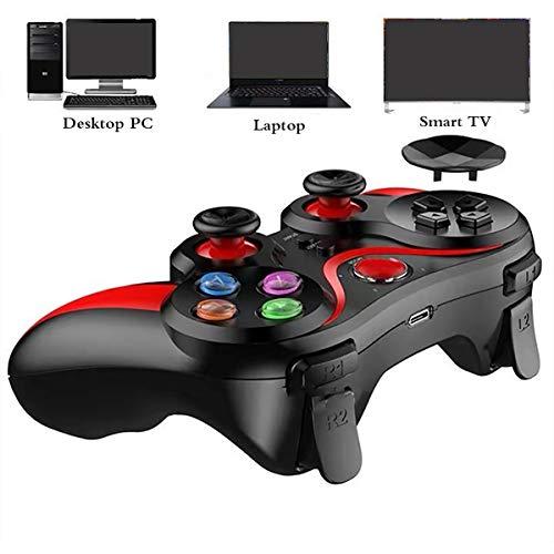 HALASHAO PS3 Controlador de Juegos inalámbrico Recargable Gamepad Joystick Controller, Gamepad Controlador inalámbrico para PS3 Palanca de Mando Gamepad Bluetooth PC