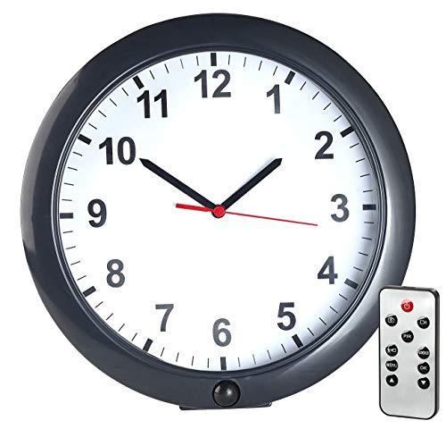 OctaCam Kamera Uhr: Kabellose Wanduhr mit Full-HD-Kamera und PIR-Sensor, 180 Tage Stand-by (Wanduhren mit integrierten Kameras)