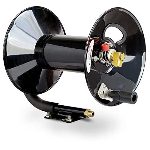 ReelWorks L201303A Hand Crank Air Compressor Hose Reel without Hose