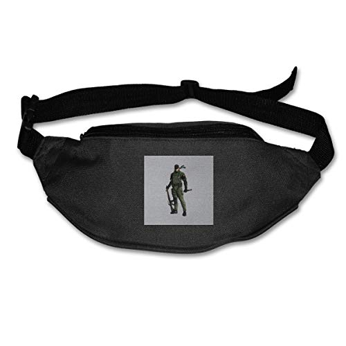 HKUTKUFGU Bauchtasche für Damen und Herren aus Metall mit solidem Peace-Walker, Big Boss-Tasche, Reisetasche, Bauchtasche für Laufen, Radfahren, Wandern, Workout