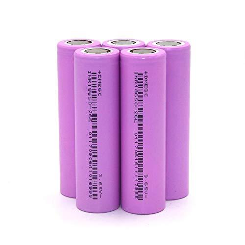 6 stuks 18650 lithiumbatterij 2600 mAh vermogen 5 C geschikt voor elektrische voertuigen, elektrisch gereedschap, accus, platte kopbatterijen