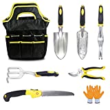 KYLER Gardening Tool Set - 8 Piece Lightweight Durable Garden Kit, Garden Tools Set for Women and Men, Garden Gift Kit