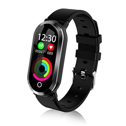Top-Vigor Fitness Tracker per Donne con Pressione cardiofrequenzimetro, HR Activity Tracker Smart Bracelet Smartwatch con contatore Conta Passi, Calorie, monitoraggio del Sonno per Android