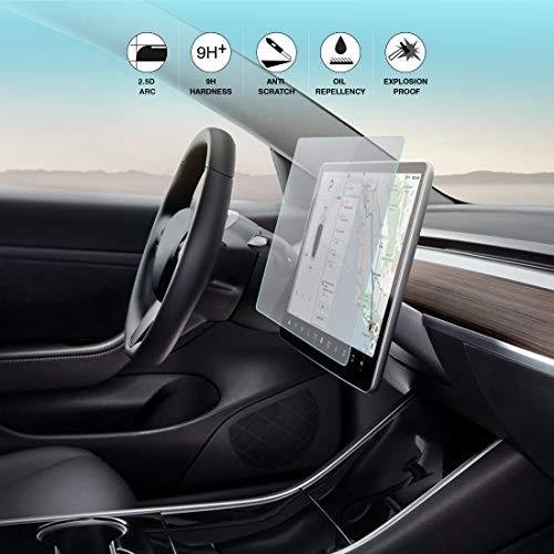 BougeRV für Tesla Model 3 Displayschutzfolie HD Schutzfolie Anti-Scratch Displayschutz Glas Touchscreen-Schutz