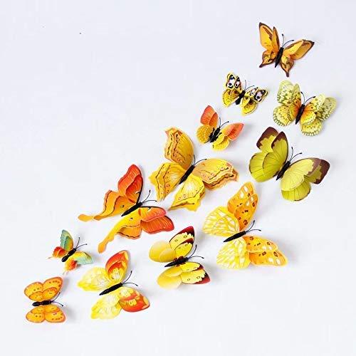Siamrose 12 piezas 3D mariposa stickrs diseño de moda DIY decoración de la pared decoración de la casa decoración del cuarto de bebé, azul LTLNB (color: #5)