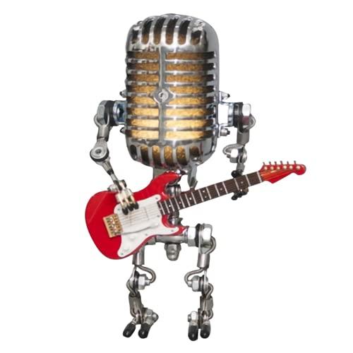 XinTengDa Lámpara de luz de noche con micrófono vintage, lámpara de metal para dormitorio