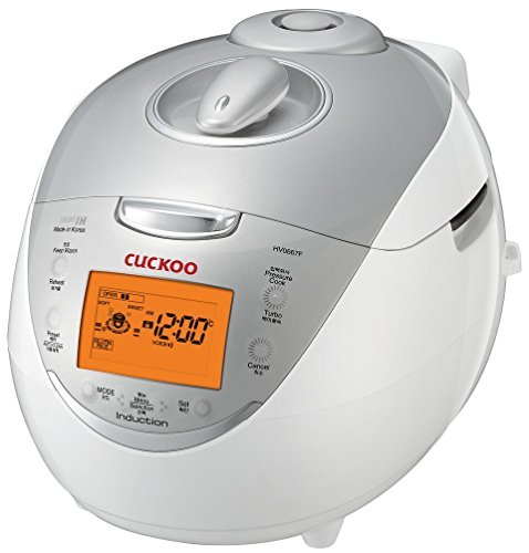 Cuckoo IH Electric Pressure Rice Cooker CRP-HF0610F (6 cups) - Ivory/Silver
