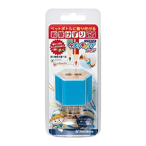 シャチハタ 鉛筆けずり ケズリキャップ ツイン ペットボトル取付型 ZKC-W1/H ブルー