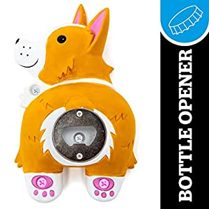 BigMouth Inc. Corgi Butt Bottle Opener – Hilarious Wall Mounted Bottle Opener, Fun Home Bar Accessories – Makes a Great Gift Idea