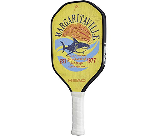 HEAD Graphite Pickleball Paddle - Margaritaville Fins Lightweight Paddle w/Honeycomb Polymer Core & Comfort Grip