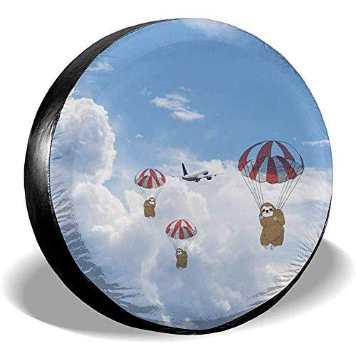 XZfly Het Vliegtuig vliegt in de lucht in mooie wolken Reservebanden, Universele Wielbandbeschermers, Reisauto Weerbestendig