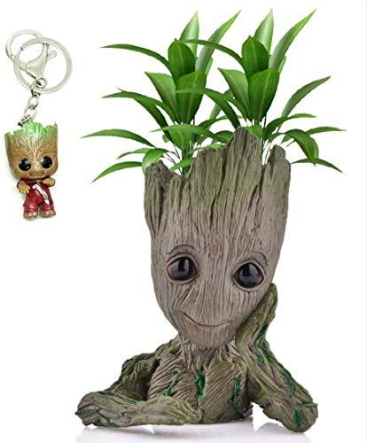 Baby Groot Maceta - Figura de acción para Plantas y bolígrafos de la película clásica - Perfecto como Regalo - Soy Groot 14x11x7cm