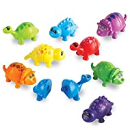Learning Resources Snap-n-Learn Matching Dinos, Fine Motor, Counting & Sorting Toy, 18 Pieces, Ages 2+