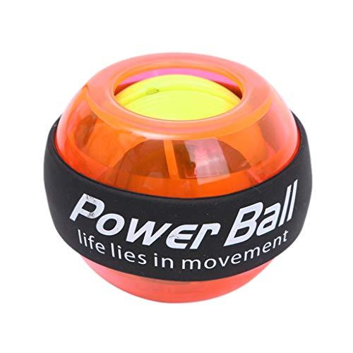 Dong shop Wrist LED Ball Trainer Gyroscope Strengthener Gyro Power Ball Power Ball Arm Exerciser Exercise Machine Gym Fitness Equipment (Color : Orange)