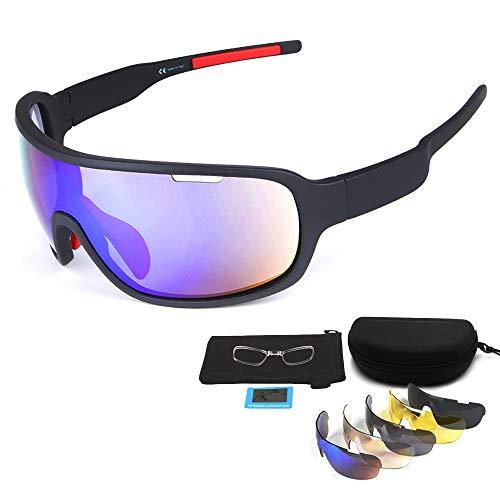 Gafas Ciclismo Polarizadas Gafas de Sol Deportivas con 3 Lentes Intercambiables UV400 Gafas para Hombres Mujeres Deportes Pesca Esquí Conducción Golf Correr Ciclismo Gafas de Sol (amarillo negro)