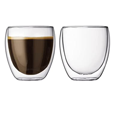 Bodum Pavina 8.5-Ounce Double-Wall Thermo Timber/DOF Glass, Set of 2