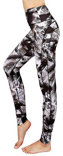 Neonysweets Pantalones de yoga para mujer impresos para entrenamiento activo Leggings elásticos