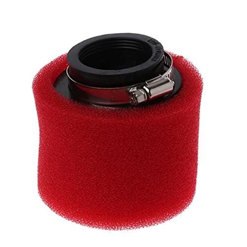 Nuevo limpiador de filtro de aire de doble esponja de motocicleta Cuello recto 35/38 / 40/42 / 45 / 48mm (Color : 38mm)