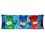 Franco PE0138 Kids Bedding Super Soft Microfiber Zippered Body Pillow Cover, 20' x 54', PJ Masks