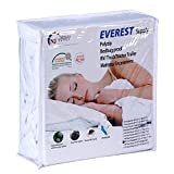Everest Supply Polyzip Box Spring Mattress Encasement Machine Washable Non Waterproof Breathable 6 Side Cover- (Cali Twin XL 36'x84', 9-11' PZ Depth)