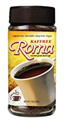 Kaffree Roma offers a caffeine-free alternative to regular coffee, equal to 100 servings A naturally rich, roasted blend with a warming aroma & bold flavor Non-GMO & Tannic Acid-Free, perfect for those avoiding caffeine, sensitive to acid, or nursing...