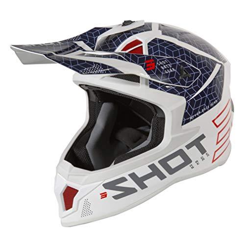 Shot Lite Core Casco Motocross Blu/Rosso S (55/56)