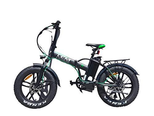 Tecnobike Shop Bici elettrica a Pedalata Assistita Pieghevole LEM Orlando Confort Fat-Bike Folding 250W 36v 10Ah Batteria al Litio (Nero)