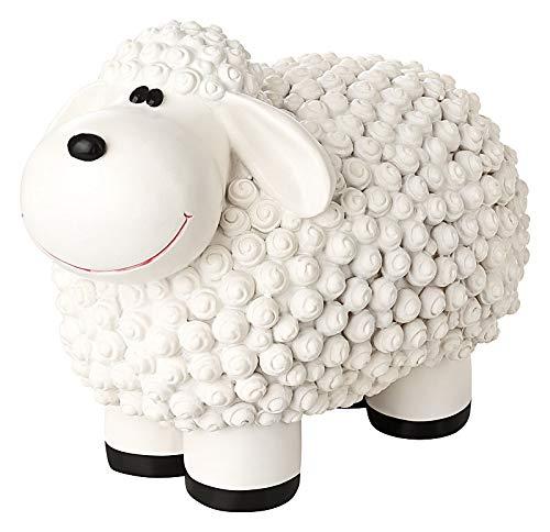 incubado Mini Schaf Molly Deko-Figur Gartenfigur, Gartendekoration für den Garten Außen-Bereich, klein (weiß)