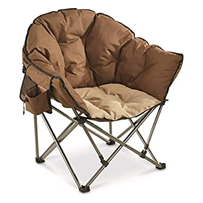 Guide Gear Oversized Club Camp Chair, 500-lb. Capacity, Tan/Brown