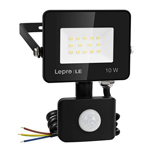 Lepro Security Lights Outdoor Motion Sensor, 10W Security Light, 850 Lumen,...