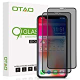 OTAO Privacy Screen Protector for iPhone 11/iPhone XR 6.1inch True 28°Anti Spy Tempered Glass Full-Coverage (2 -pack)