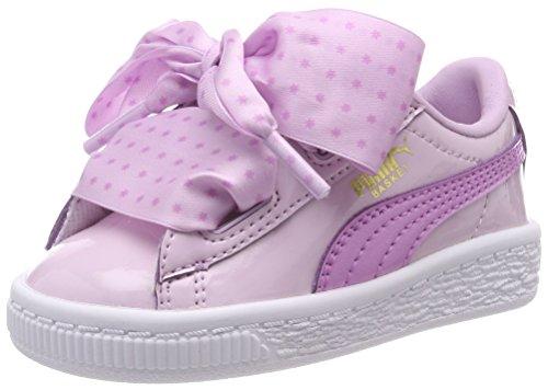 PUMA Mädchen Basket Heart Stars INF Sneaker, Pink (Winsome Orchid-Orchid-Metallic Gold), 24 EU