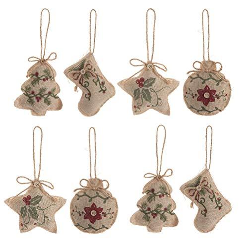 jemous kerstdecoraties Kerstmis hanger hanger ornament hangende decoratie voor open haard kerstboom reling decoratie