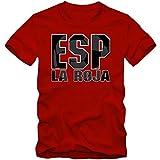 España Campeonato De Europa 2016#3 Camiseta | T-Shirt | Fútbol | Hombre | Jersey | La Furia Roja | Equipo Nacional, Colour:Red;Size:XX-Large
