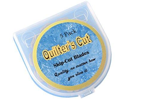 Quilter's Cut Rotary Blades Crochet Edge, 5 Pack, Fits Olfa, Fiskars, Martelli, Truecut