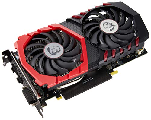 MSI NVIDIA GEFORCE GTX 1050Ti GAMING X 4G Graphics Card '4GB GDDR5, 1493MHz, Red LED, DisplayPort, HDMI, DVI-D, Dual Fan Cooling System'