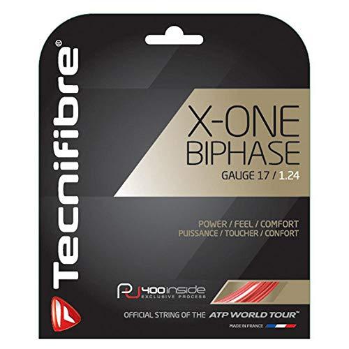 Tecnifibre X-One BIPHASE 1.18 Red - Cuerda de Tenis Unisex, Rojo, 12 m